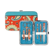 Manicure Set-Coral/Brown