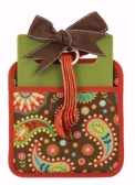 Pot Holder Chocolate/Paisley