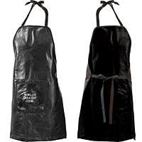 Leather Barbeque Apron with Front Pocket