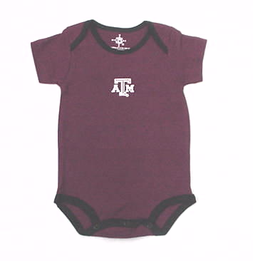 Maroon & Black Texas A&M Onesie