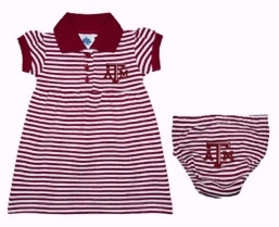 Striped Texas A&M Dress