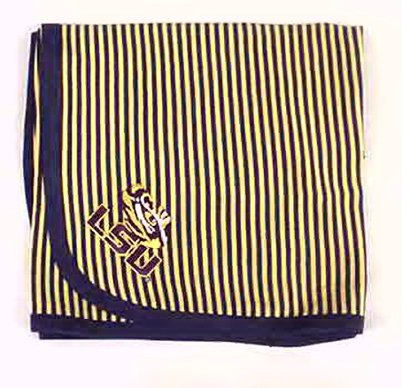 LSU Striped Blanket