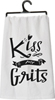 Kiss My Grits Dish Towel