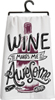 Wine Awesome Dish Towel