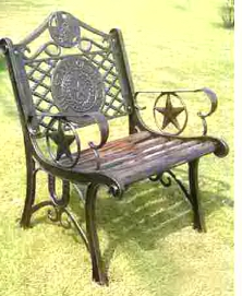 Single Texas Cast Iron Chair