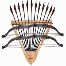 2-Bow, 12 Arrows Wall Rack