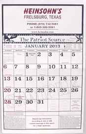 NEW Heinsohns Country Store 2016 Calendar