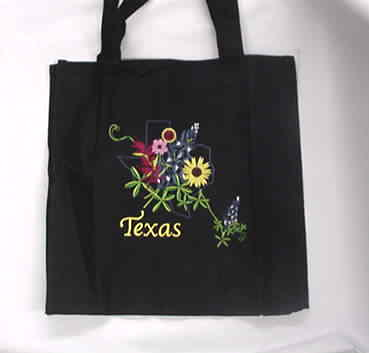 Wildflower Black Tote