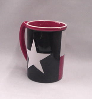 Texas Flag Embossed Mug