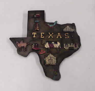 Texas Map Wall Plaque