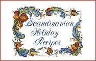 Scandinavian Holiday Recipes