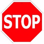 Stop (Red & White) Tin Sign