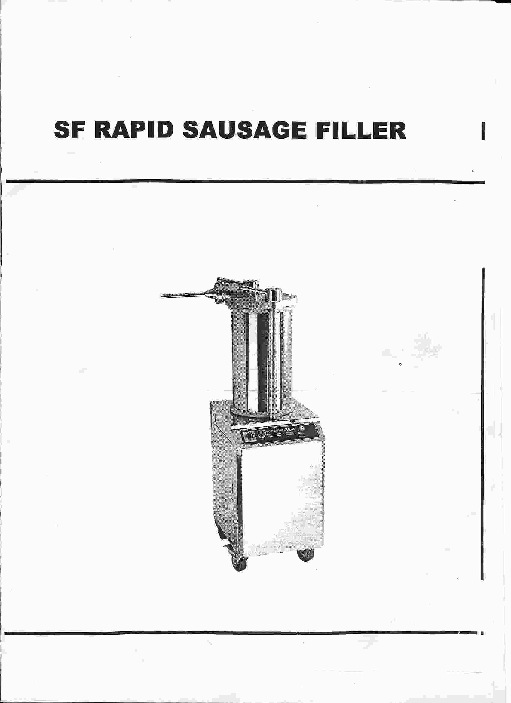 Hydraulic Sausage Stuffer Manual