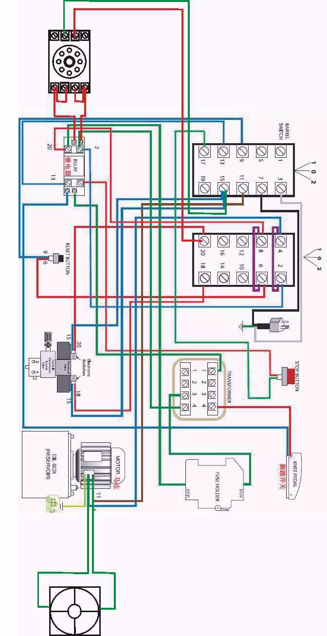 Wiring diagram for New hydraulic sausage stuffers