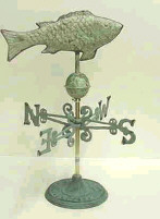 Fish Weathervane with stand